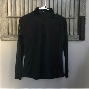 Black Under Armour 1/4 Zip - Girls size large